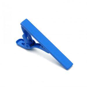 Krawattenklemme blau Metall