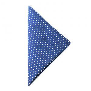 Einstecktuch blau-weiß gepunktet