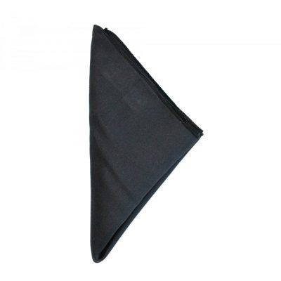 Einstecktuch Seide schwarz