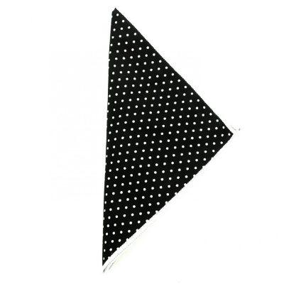 Einstecktuch schwarz-weiß gepunktet