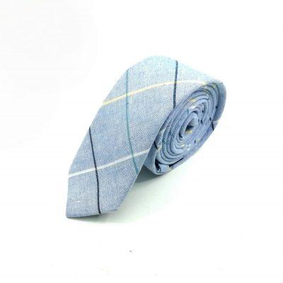 "Krawatte slim ""Vintage Charme"" blau"