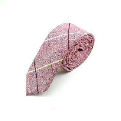 """Krawatte slim """"Vintage Swing"""" rosa"""