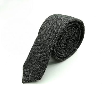 Krawatte slim gestrickt schwarz-grau