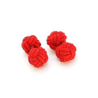 Manschettenknopf Knoten rot