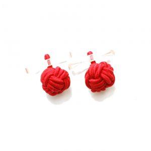 Manschettenknopf Knoten mit Halterung rot