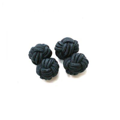 Manschettenknopf Knoten schwarz