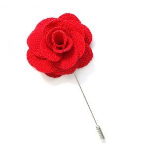 Pin Anstecknadel rot Blume