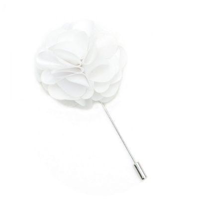 Pin Anstecknadel weiß Blume