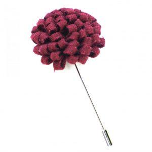Pin Anstecknadel bordeauxrot Blume