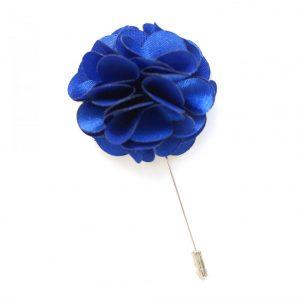 Pin Anstecknadel royalblau Blume