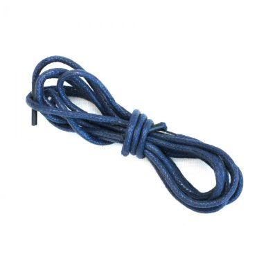 Lederschnürsenkel navy blau