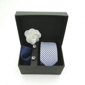 """Accessoirebox Krawatte blau """"Munich Style"""""""