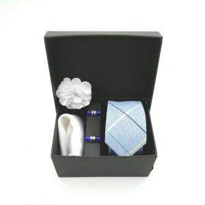 """Accessoirebox Krawatte blau""""Vintage Charme"""""""