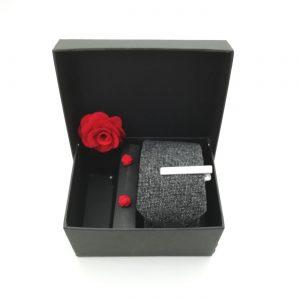 """Accessoirebox Krawatte grau """"Vintage Tango"""""""
