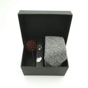 """Accessoirebox Krawatte grau """"Vintage Charleston"""""""