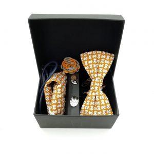 """Accessoirebox Fliege ocker """"Bejing Style"""""""